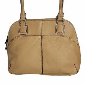 Tignanello Tan Leather Shoulder Bag Handbag
